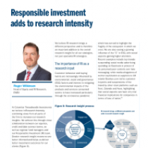 Responsible investment adds to research intensity