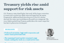 Treasury yields rise amid support for risk assets