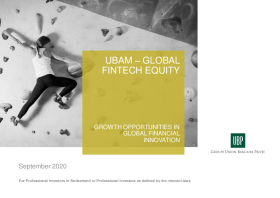 UBP – Growth Opportunities in Global Financial Innovation