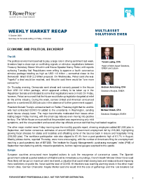 Weekly Market Recap – 5 October 2020