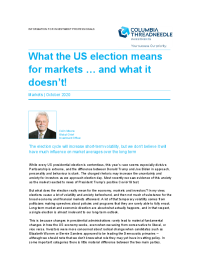 What the US election means for markets … and what it doesn't!