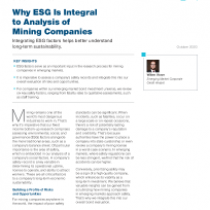 Why ESG Is Integral to Analysis of Mining Companies