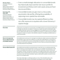 Convertible Bonds: A Strategic Allocation