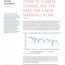 Covid-19, climate change, and the need for a new marshall plan