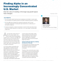 Finding Alpha in an Increasingly Concentrated  U.S. Market