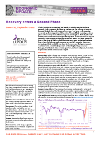 Recovery enters a Second Phase