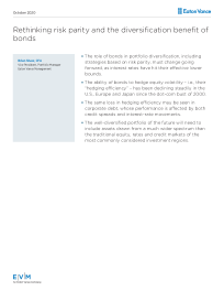 Rethinking risk parity and the diversification benefit of bonds