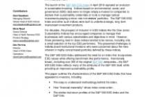 The S&P 500 ESG Index: Defining the Sustainable Core