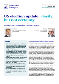 US election update: clarity, but not certainty