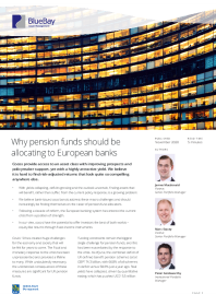 Why pension funds should be allocating to European banks