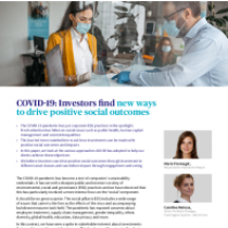 COVID-19: Investors find new ways to drive positive social outcomes