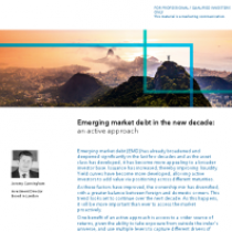Emerging market debt in the new decade: an active approach