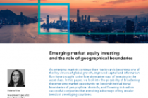 Emerging market equity investing and the role of geographical boundaries