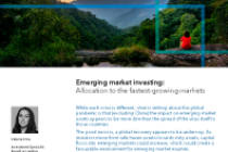 Emerging market investing: Allocation to the fastest-growing markets