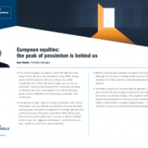 European equities: the peak of pessimism is behind us
