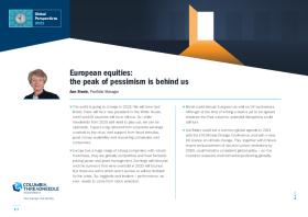 European equities: the peak of pessimism is behind us