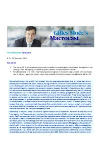 Fiscal Forward Guidance