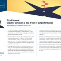 Fixed income: security selection a key driver of outperformance
