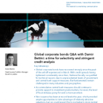 Global corporate bonds Q&A with Damir Bettini: a time for selectivity and stringent credit analysis