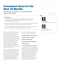 Investment Ideas for the Next 12 Months