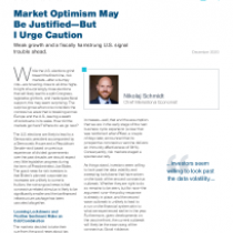 Market Optimism May Be Justified—But I Urge Caution