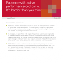 Patience with active performance cyclicality: It's harder than you think