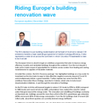 Riding Europe's building renovation wave