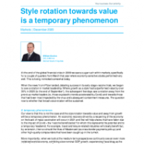 Style rotation towards value is a temporary phenomenon