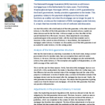 The NHG guarantee under Solvency II