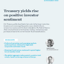 Treasury yields rise on positive investor sentiment