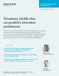 Treasury yields rise on positive investor sentiment