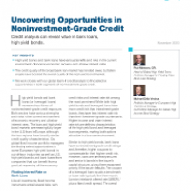 Uncovering Opportunities in Noninvestment‑Grade Credit