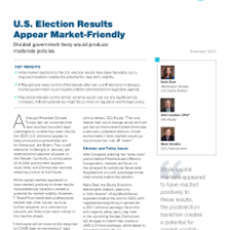 U.S. Election Results Appear Market-Friendly