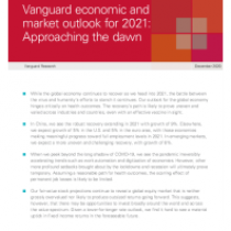 Vanguard's global outlook for 2021