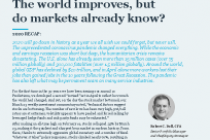 2021: The world improves, but do markets already know?