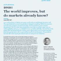 2021: The world improves, but do markets already know?