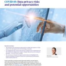 COVID-19: Data privacy risks and potential opportunities