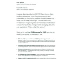 ESG Investing in 2021