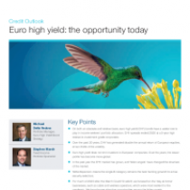 Euro high yield: the opportunity today