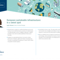 European sustainable infrastructure: in a sweet spot