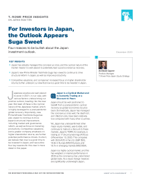 For Investors in Japan, the Outlook Appears Suga Sweet