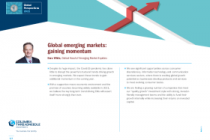 Global emerging markets: gaining momentum