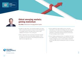 Global emerging markets: gaining momentum