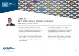 Global IG: don't underestimate changed behaviours