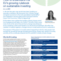 How to understand the EU's growing rulebook on sustainable investing