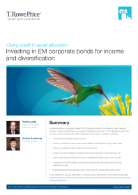 Investing in EM corporate bonds for income and diversification