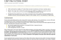 UBP Frontier Debt – 2020 review and 2021 outlook