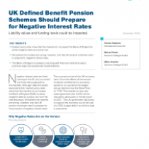 UK Defined Benefit Pension Schemes Should Prepare for Negative Interest Rates