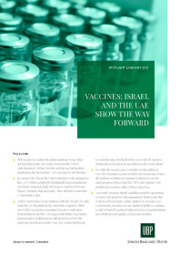 Vaccines: Israel and the UAE show the way forward