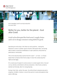 Better for you, better for the planet – food after Covid
